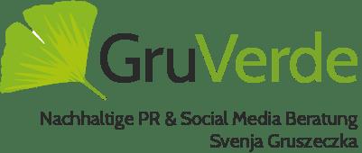 GruVerde_Logo_Svenja Gruszeczka Nachhaltige PR Social Media Beratung