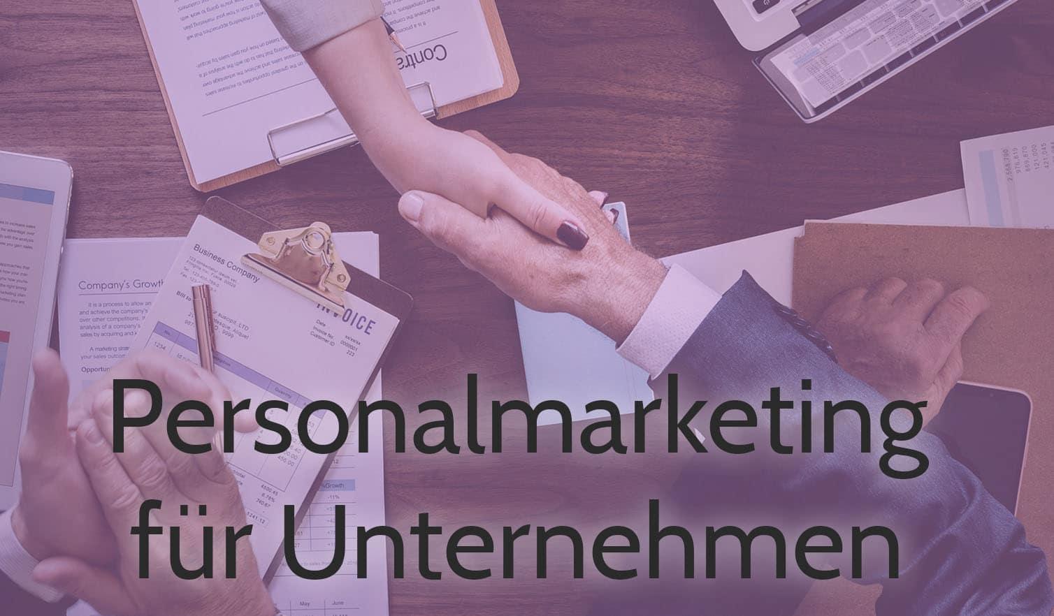 personalmarketing für unternehmen hände