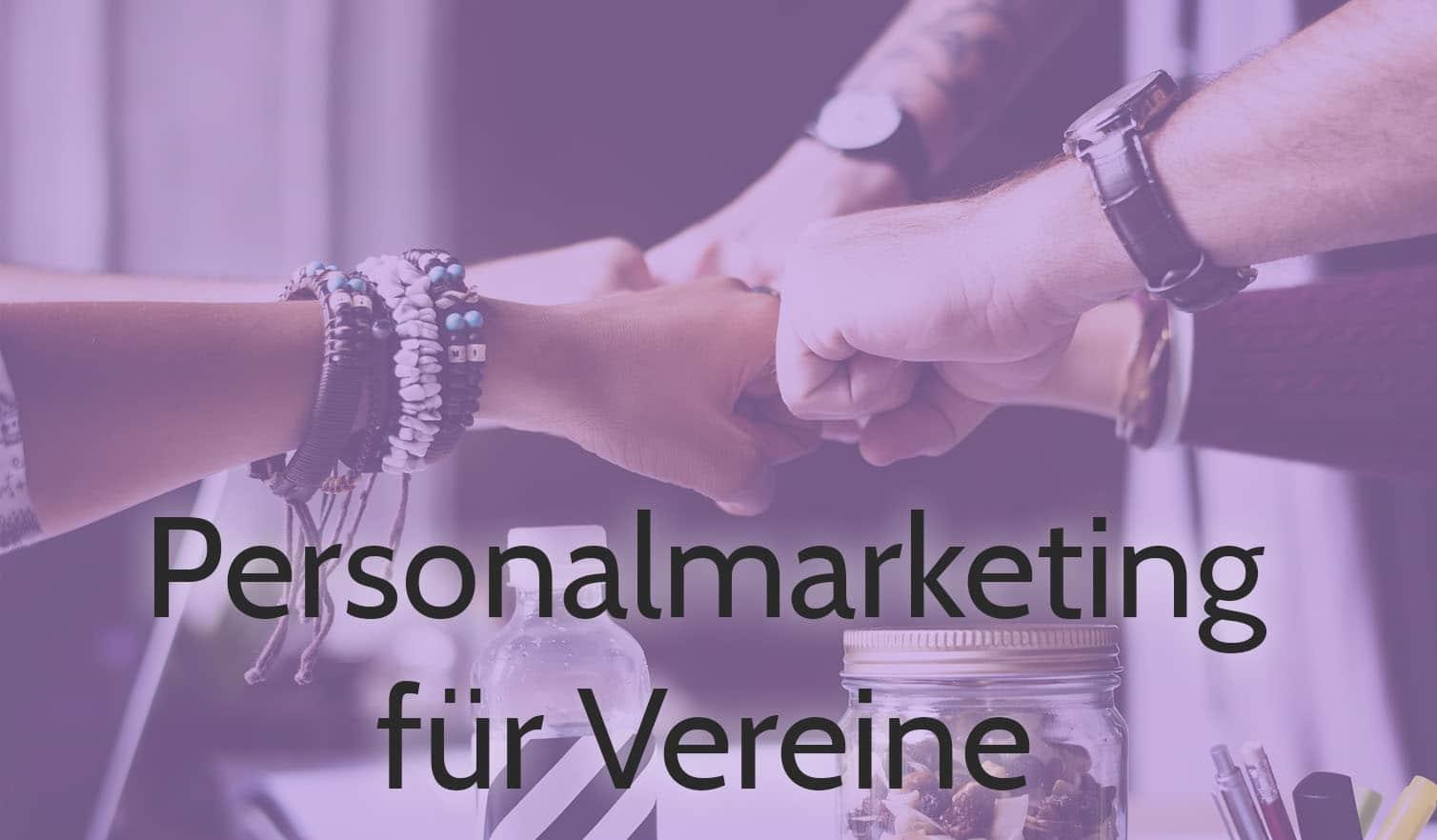 personalmarketing für vereine hände